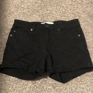 Garage black jean shorts